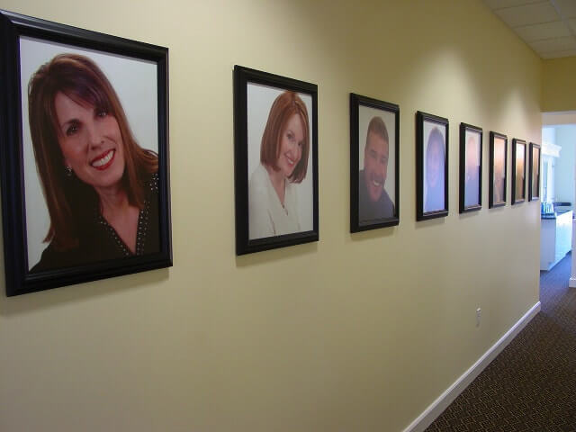 Hall of fame photos at Dr. Bakeman's office.